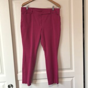 White House Black Market pink ankle pants size 12R